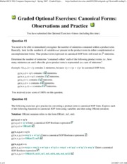 Graded Optional Exercises_ Canonical Forms_ Observations and Practice