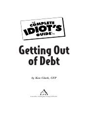 The Complete Idiot's Guide To - Getting Out of Debt (2009).pdf