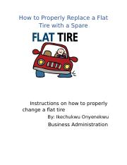 How to Replace a Flat Tire with a Spare (1)