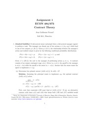 ECON 484 Fall 2011 Assignment 1 Solutions