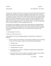 Assignment-Analysis Paper-Fall 2013