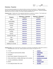 Worksheet Classifying Matter Worksheet classification of matter key orange juice wpulp mixture 1 pages properties key