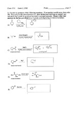 Exam 2 Spring 2002 Solution on Organic Chemistry II