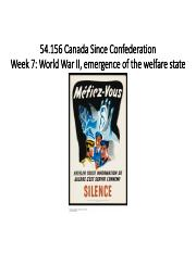 Week 7 54 156 Canada Since Confederation WWII and post-War.pdf