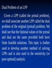 L14_Dual of LPP Defined (Chap 4).ppt