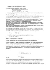 Answers to Environmental Statistics 2014 Examination (Solutions)