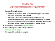 FA15 BCOR 2400 Experiential Research Information (1)