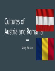 Cultures of  Austria and Romania.pptx
