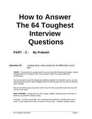 How to Answer Tough Interview Questions 2
