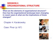 Lecture 5 Organizational Structure1