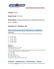 100-105 Latest Dumps Free Download From Lead2pass (76-100).pdf