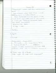 BSC 120 Ch 30 & 32 Notes