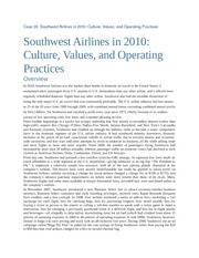 Case 20  Southwest Airlines in 2010  Culture