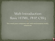 Lecture 5 on Introduction to Web Development