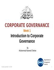 Week 1 - Introduction to Corporate Governance.ppt