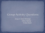 Group Activity Questions week 2