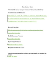 Case Control Study Template _Epidemiology week7 Application