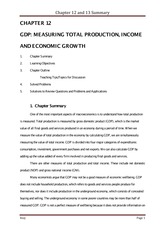 CHAPTER 12 and 13 GDP UE and Inflation Chapter Summary