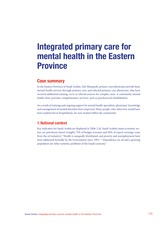 Integrated primary care for