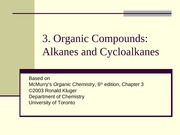 Chapter03- Organic Compounds- Alkanes and Cycloalkanes