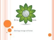 Saving Energy at Home-Powerpoint