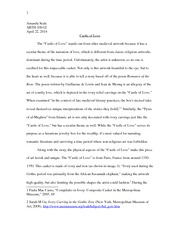 Castle of Love Research Paper