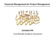 Lecture 04 - Cost Benefit Analysis of projects