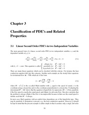 Classification of PDE's and Related Properties