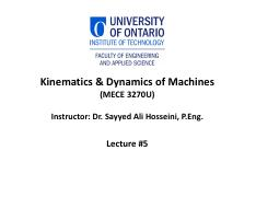05 Kinematics and Dynamics of Machines Lecture #5