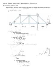 MARE 205 - 20150622 - Method of Joints & Method of Sections in Structural Analysis.docx