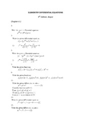 ELEMENTRY DIFFERENTIAL EQUATIONS 4.1