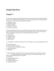 Sample Questions with answers Ch.5(1)