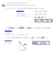 calculus 2 solutions to exam 2