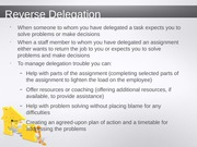 Goal Setting and Delegating