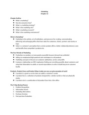 Chapter 12 Outline-Marketing