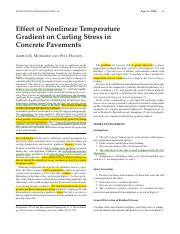 Effect of nonlinear temperature gradient on curling stresses in concrete pavements