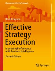 (Management for Professionals) Bernd Heesen (auth.) Effective Strategy Execution  Improving Performa