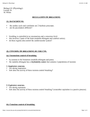 26 Regulation of breathing