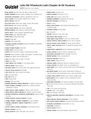 Quizlet Pdf Latin 102 Wheelock S Latin Chapter 16 30 Vocabula