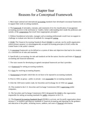 Chapter Four - Reasons for a Conceptual Framework