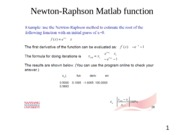 Newton-Raphson supplement