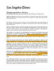 Reading 2, Week 3 - Designing better choices.pdf