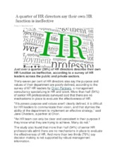 A quarter of HR directors say their own HR function is ineffective.pdf