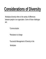 Considerations of Diversity.ppt