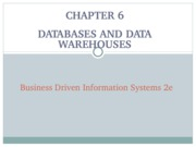 Chapter 6 - Databases and Data Warehousing-1