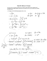 solution_sample+midterm+2 on Integral Calculus)