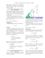 2D Kinematics II-solutions