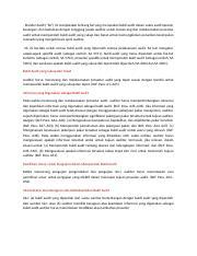 Bab Vi Bukti Audit Dan Tes Transaksi 1 Docx Bab Vi Bukti Audit Dan Tes Transaksi Sifat Bukti Audit Audit Evidence Auditor Harus Merancang Dan Course Hero
