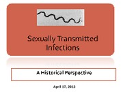 History of Sexually Transmitted Infections