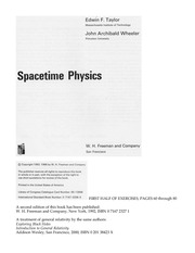 Spacetime Physics Ex and Sol
